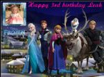 A4 Disney Frozen with your photo Edible Icing or Wafer Birthday Cake Topper